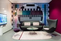 Scandinavian architecture, danish design, arkitektur, indretning, dansk design, Scandinavian design, design, modern design, enkel design, TV, venterum, venteværelse, farvekombinationer, simpel design,