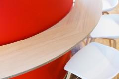 Scandinavian architecture, danish design, arkitektur, indretning, dansk design, Scandinavian design, design, modern design, enkel design, quote, advokat kontor, kontor indretning, details, rød, træ, simpel design,